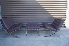 Ludwig Mies Van Der Rohe Pair of Barcelona Chairs with Single Ottoman by Mies van der Rohe for Knoll - 955934