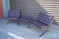 Ludwig Mies Van Der Rohe Pair of Barcelona Chairs with Single Ottoman by Mies van der Rohe for Knoll - 955935
