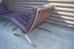 Ludwig Mies Van Der Rohe Pair of Barcelona Chairs with Single Ottoman by Mies van der Rohe for Knoll - 955937