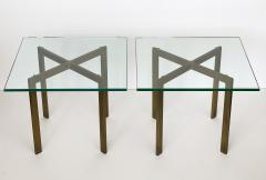 Ludwig Mies Van Der Rohe Pair of Mies van der Rohe Bronze Barcelona Side Tables - 1011014