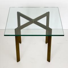 Ludwig Mies Van Der Rohe Pair of Mies van der Rohe Bronze Barcelona Side Tables - 1011016