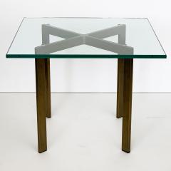 Ludwig Mies Van Der Rohe Pair of Mies van der Rohe Bronze Barcelona Side Tables - 1011017