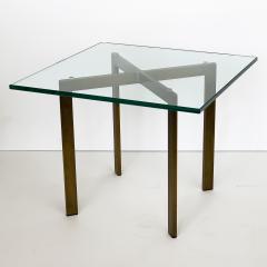 Ludwig Mies Van Der Rohe Pair of Mies van der Rohe Bronze Barcelona Side Tables - 1011020