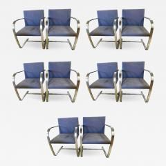 Ludwig Mies Van Der Rohe Rare Set of Ten Mies van der Rohe Dining Chairs for Knoll - 1302201