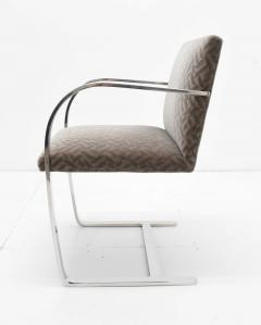 Ludwig Mies Van Der Rohe Set of Four Mies van der Rohe Brno Chairs in Mohair - 1327573