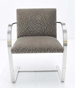 Ludwig Mies Van Der Rohe Set of Four Mies van der Rohe Brno Chairs in Mohair - 1327575