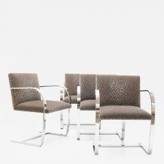 Ludwig Mies Van Der Rohe Set of Four Mies van der Rohe Brno Chairs in Mohair - 1327967