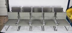 Ludwig Mies Van Der Rohe Set of Ten Tubular Brno Chairs by Knoll - 1244514