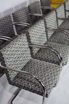 Ludwig Mies Van Der Rohe Set of Ten Tubular Brno Chairs by Knoll - 1244540