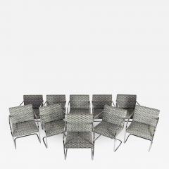 Ludwig Mies Van Der Rohe Set of Ten Tubular Brno Chairs by Knoll - 1245457