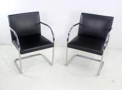 Ludwig Mies Van Der Rohe Six Mid Century Modern Armchairs by Mies Van Der Rohe for Knoll International - 1150629