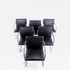 Ludwig Mies Van Der Rohe Six Mid Century Modern Armchairs by Mies Van Der Rohe for Knoll International - 1151124