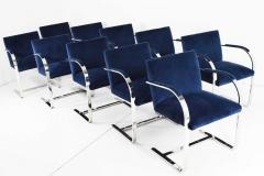 Ludwig Mies Van Der Rohe Stainless Steel Flatbar Brno Chairs by Knoll ONLY FOUR AVAILABLE - 1239463