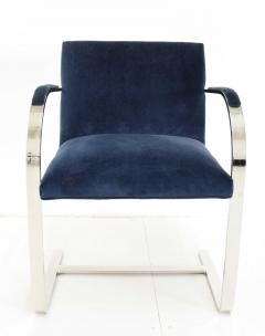 Ludwig Mies Van Der Rohe Stainless Steel Flatbar Brno Chairs by Knoll ONLY FOUR AVAILABLE - 1239488