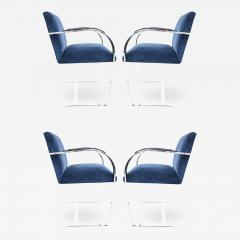 Ludwig Mies Van Der Rohe Stainless Steel Flatbar Brno Chairs by Knoll ONLY FOUR AVAILABLE - 1241872