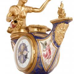 Ludwig Politzer Austrian enamel and silver gilt clock by Ludwig Politzer - 1287304