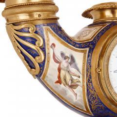 Ludwig Politzer Austrian enamel and silver gilt clock by Ludwig Politzer - 1287306