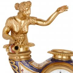 Ludwig Politzer Austrian enamel and silver gilt clock by Ludwig Politzer - 1287308