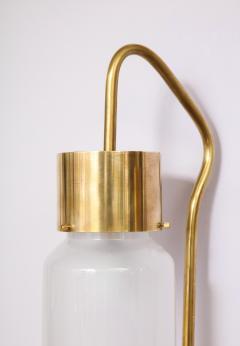 Luigi Caccia Dominioni A pair Set of four LP 10 Azucena brass and opaline glass wall sconces - 1023234