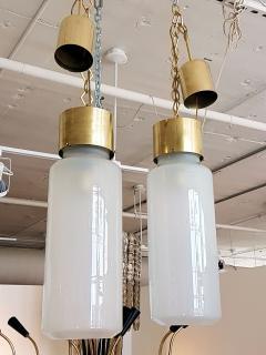 Luigi Caccia Dominioni C Dominioni for Azucena Pair of Mid Century Modern Italian Glass Pendants - 655340