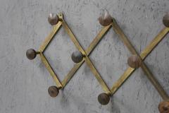 Luigi Caccia Dominioni Hanging clothes by Luigi Caccia Dominioni in brass and wood 1950s - 1308041
