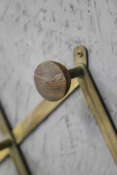 Luigi Caccia Dominioni Hanging clothes by Luigi Caccia Dominioni in brass and wood 1950s - 1308044