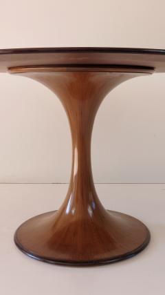 Luigi Massoni Elegant Walnut Round Center Dining Table Clessidra by Luigi Massoni 1959 - 1948550
