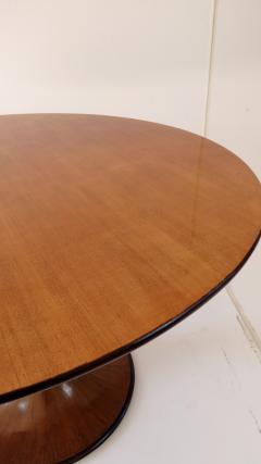 Luigi Massoni Elegant Walnut Round Center Dining Table Clessidra by Luigi Massoni 1959 - 1948553