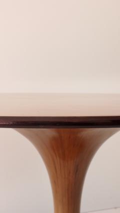 Luigi Massoni Elegant Walnut Round Center Dining Table Clessidra by Luigi Massoni 1959 - 1948556