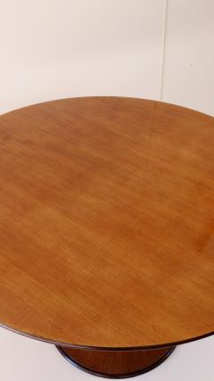 Luigi Massoni Elegant Walnut Round Center Dining Table Clessidra by Luigi Massoni 1959 - 1948559