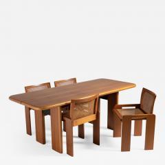 Luigi Saccardo Dining Table with Chairs by Luigi Saccardo for Gasparello - 1167125