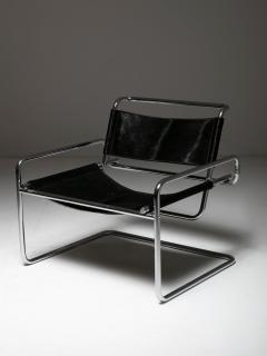 Luigi Saccardo Pair of Cantilever Steel chairs by Luigi Saccardo for Arrmet - 1085628