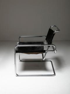 Luigi Saccardo Pair of Cantilever Steel chairs by Luigi Saccardo for Arrmet - 1085629