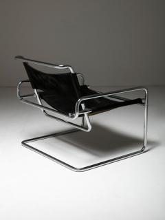 Luigi Saccardo Pair of Cantilever Steel chairs by Luigi Saccardo for Arrmet - 1085630