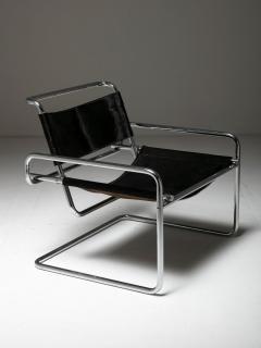 Luigi Saccardo Pair of Cantilever Steel chairs by Luigi Saccardo for Arrmet - 1085631