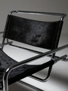 Luigi Saccardo Pair of Cantilever Steel chairs by Luigi Saccardo for Arrmet - 1085632