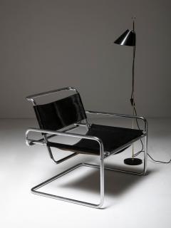Luigi Saccardo Pair of Cantilever Steel chairs by Luigi Saccardo for Arrmet - 1085634
