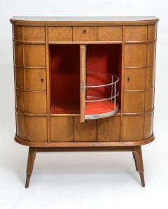 Luigi scremin italian modern ash walnut olivewood mahogany bar cabinet 1950 39 s - Contemporary bar cabinet on a small budget ...