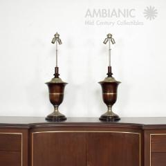 Luis Barragan Neoclassical Mahogany Table Lamps Mexican Modernist Style Luis Barragan 1940s - 1542740