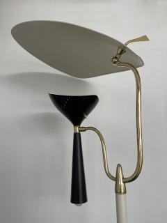 Lumen Milano Italian Mid Century Modern Metal and Brass Floor Lamp by Lumen 1950s - 1941873