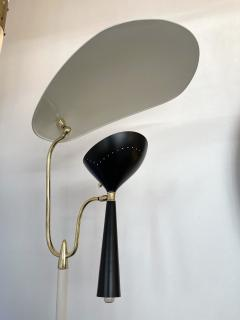 Lumen Milano Italian Mid Century Modern Metal and Brass Floor Lamp by Lumen 1950s - 1941875