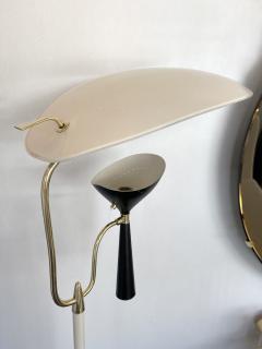 Lumen Milano Italian Mid Century Modern Metal and Brass Floor Lamp by Lumen 1950s - 1941877