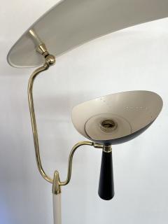 Lumen Milano Italian Mid Century Modern Metal and Brass Floor Lamp by Lumen 1950s - 1941879