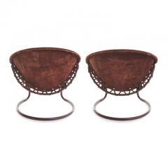 Lusch Erzeugris Midcentury German Circle Chairs by Lusch Erzeugris in Suede - 1455926