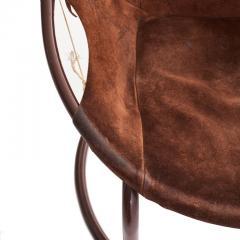 Lusch Erzeugris Midcentury German Circle Chairs by Lusch Erzeugris in Suede - 1455928