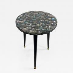 MID CENTURY ABALONE RESIN TOP TRIPOD TABLE - 1149070