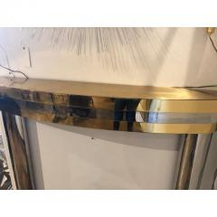 MID CENTURY BRASS AND CHROME FIREPLACE MANTEL - 1046518