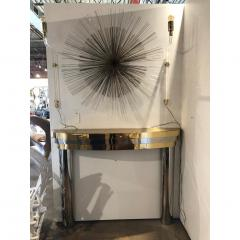 MID CENTURY BRASS AND CHROME FIREPLACE MANTEL - 1046519