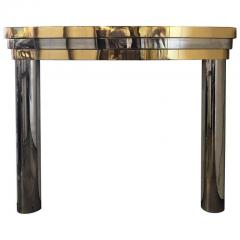 MID CENTURY BRASS AND CHROME FIREPLACE MANTEL - 1046521