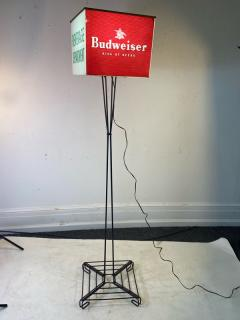 MID CENTURY BUDWEISER ADVERTISING CUBE FLOOR LAMP - 1688191